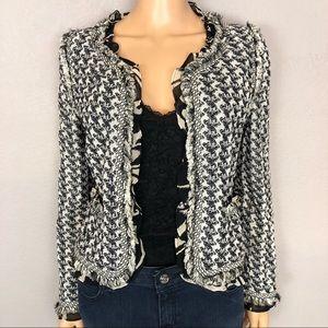 St John Couture Knit Blazer Jacket Ruffles